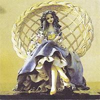 ウインライトを素材とした紙粘土人形